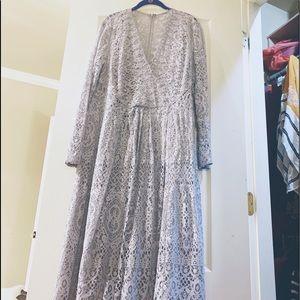 •Ice Blue Lace Dress•